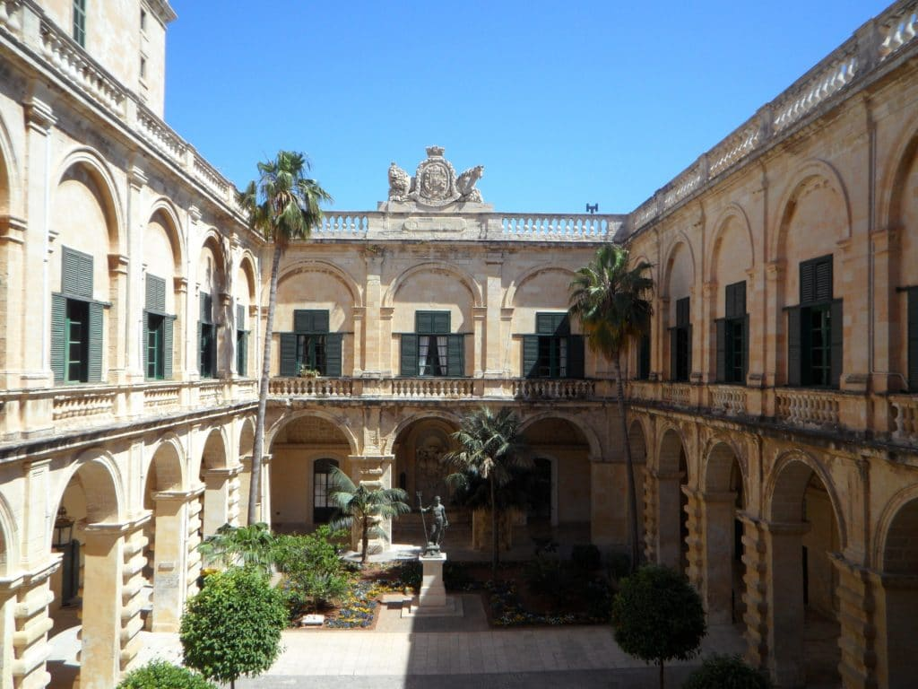 In rare cases some of Malta's luxury real estate that's for sale will include historic palazzos with their central courtyard.