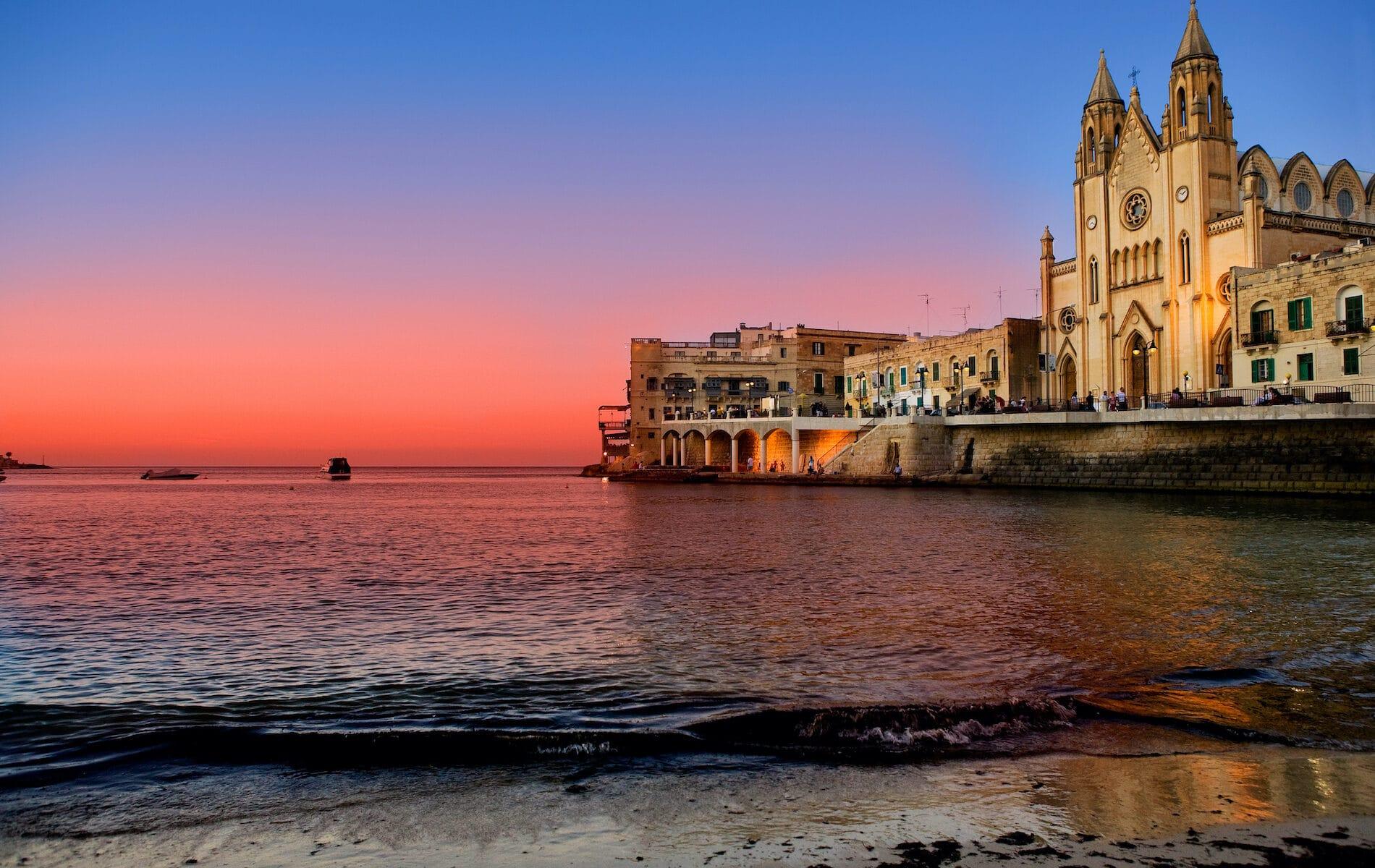 St. Julians Bay in Malta