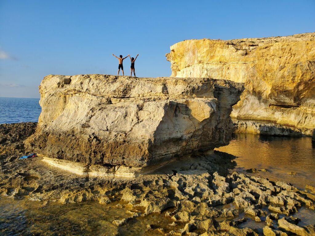 Dramatic coastlines border the beaches of Gozo.