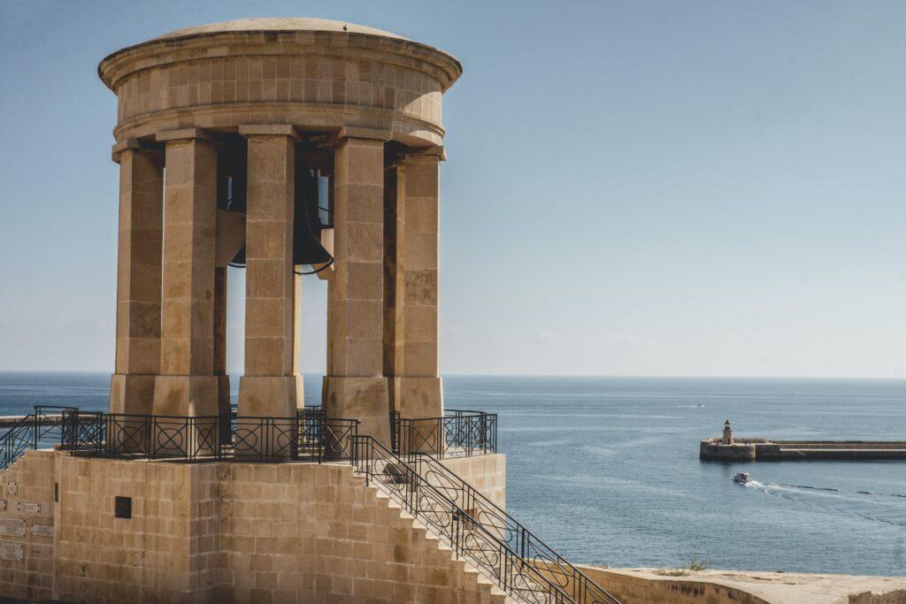 A structure by the sea in Valleta, Malta.