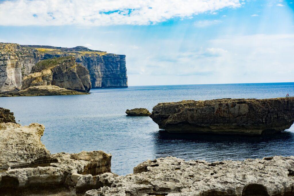 The serene and picturesque Gozo coastline.