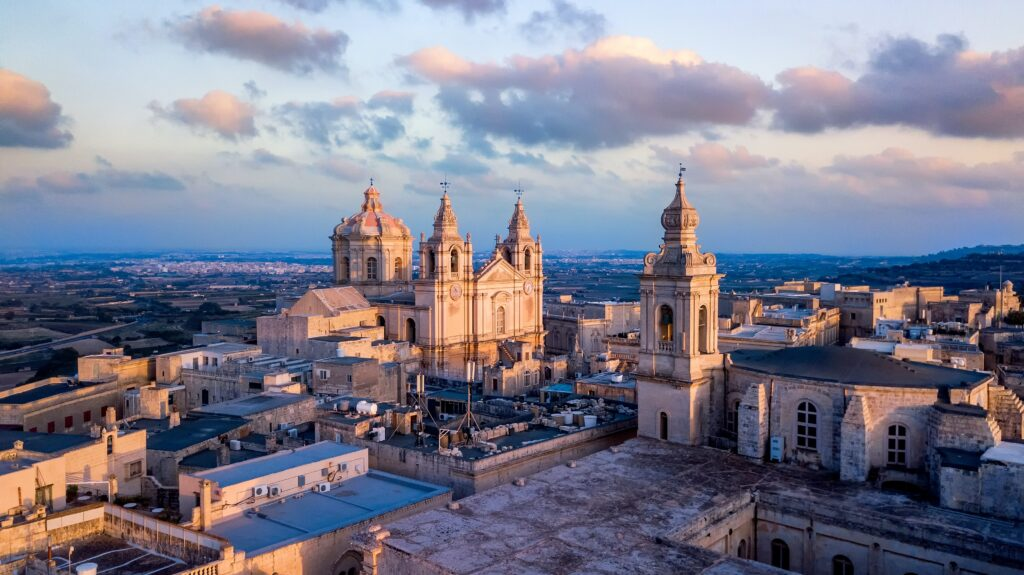 St. Paul Cathedral in Medieval City Mdina.